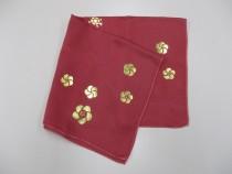 金彩加工のスカーフ作り