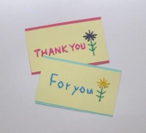 無料体験「紙刺繍のメッセージカード」